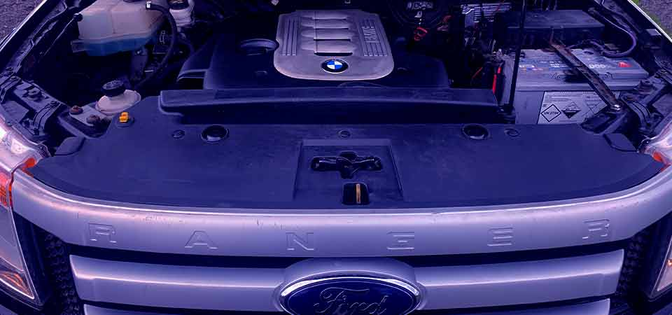 Ford Ranger conversion with BMW M57 auto engine