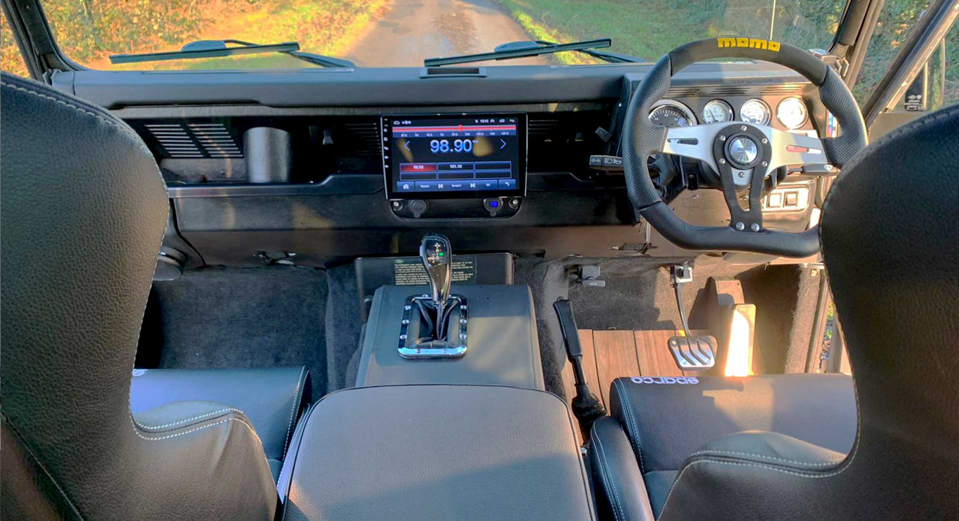 Land Rover Defender with BMW engine conversion
